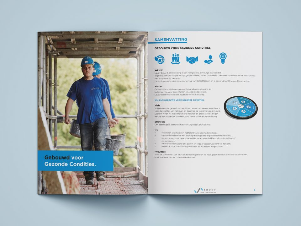 laudy bouw business plan brochure drukwerk