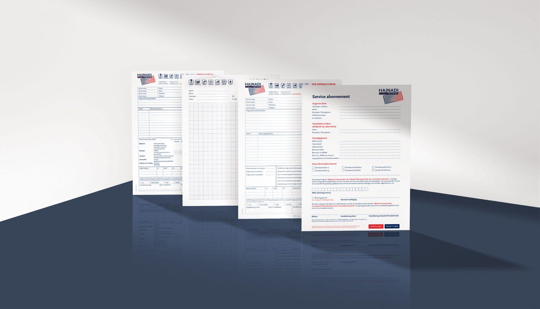 hajnadi installatietechniek formulieren vormgeving drukwerk