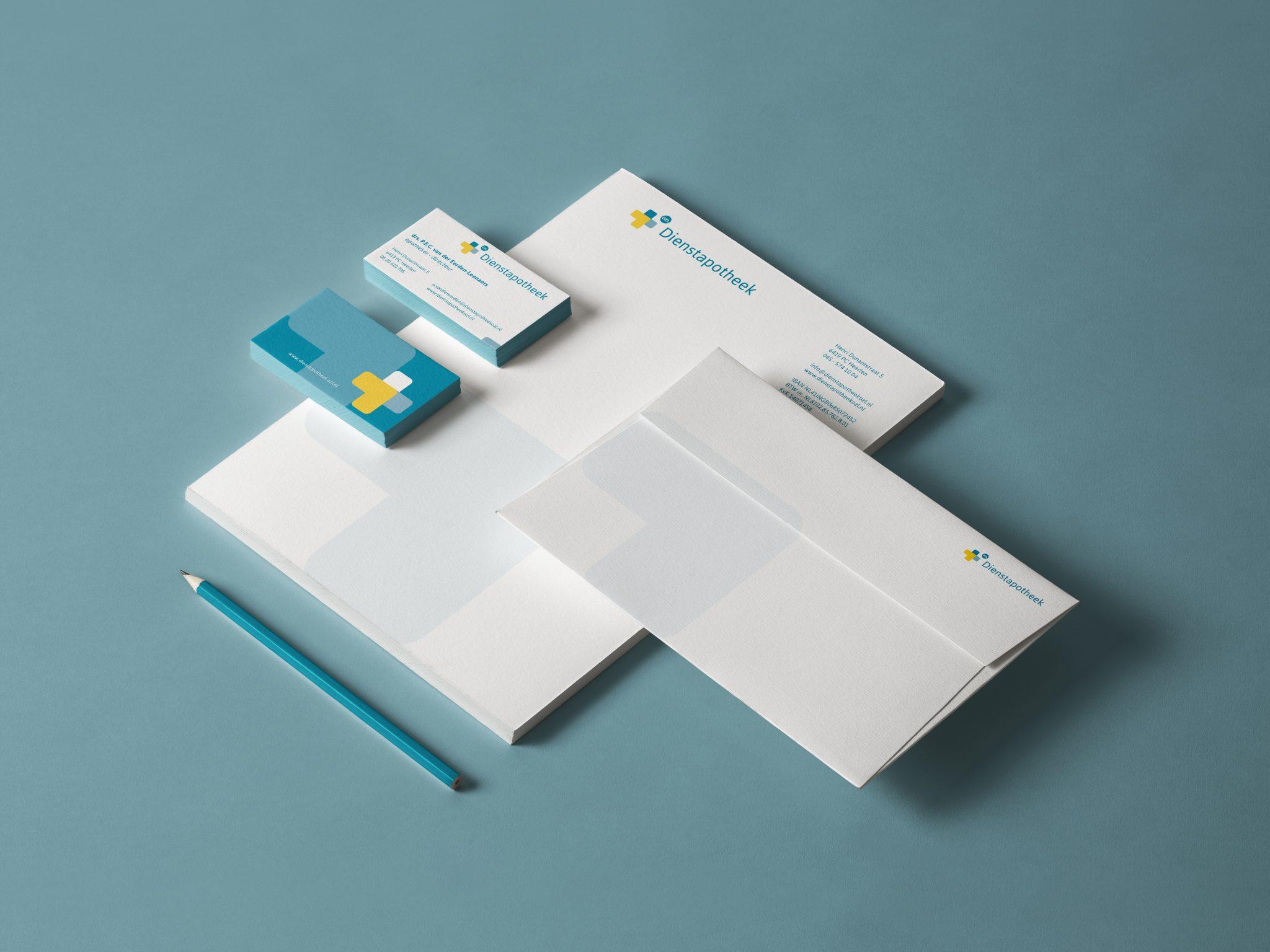 dienstapotheek ozl huisstijl vormgeving drukwerk