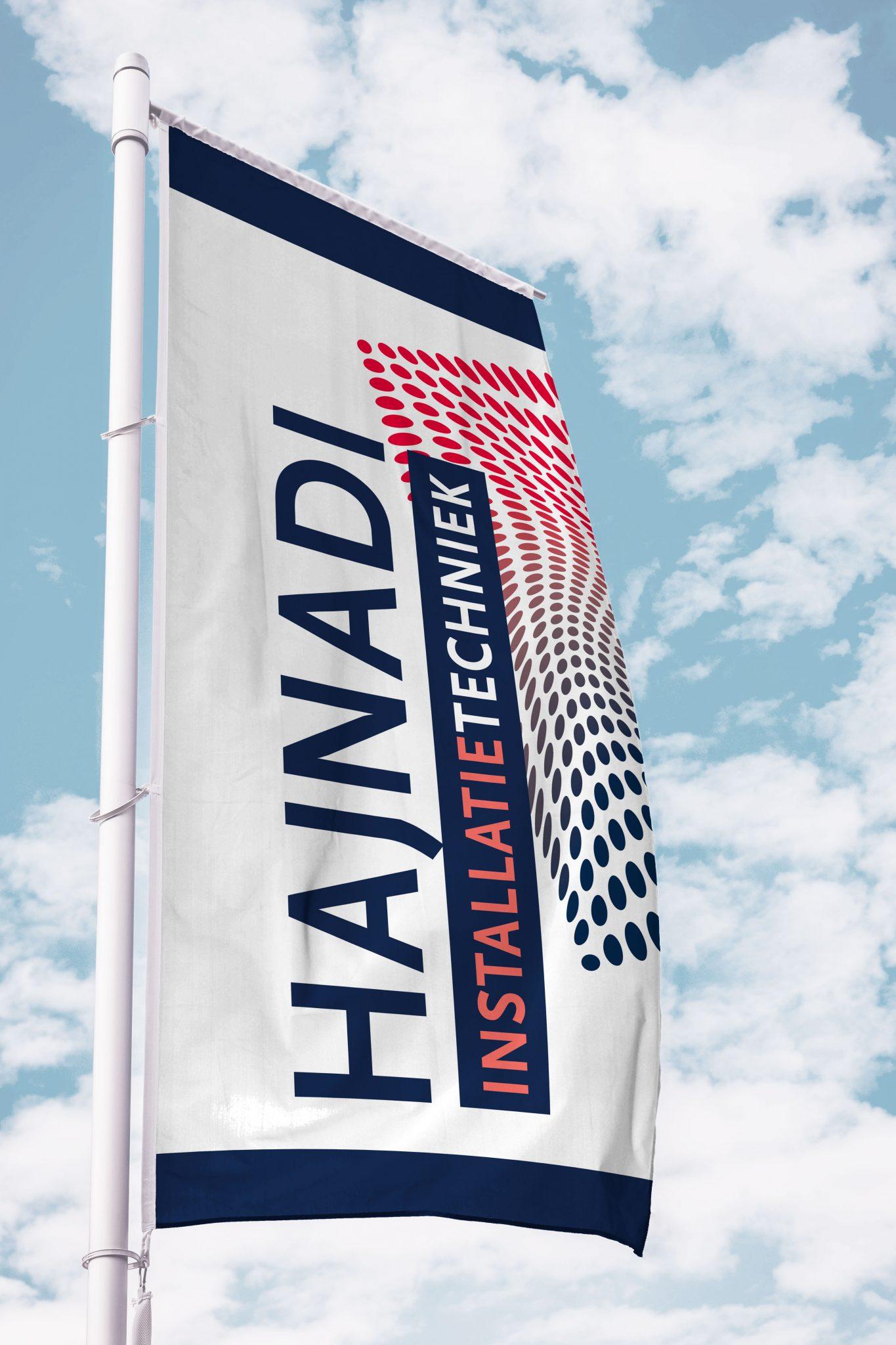hajnadi installatietechniek vlaggen grootformaat drukwerk vormgeving